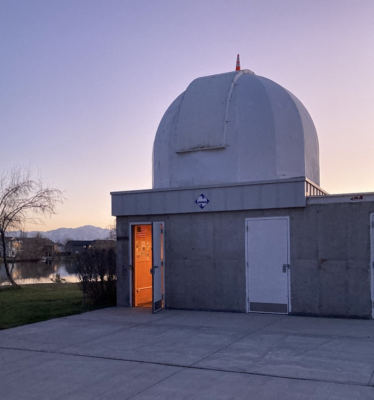 Stansbury Park Observatory Complex refractor house dome
