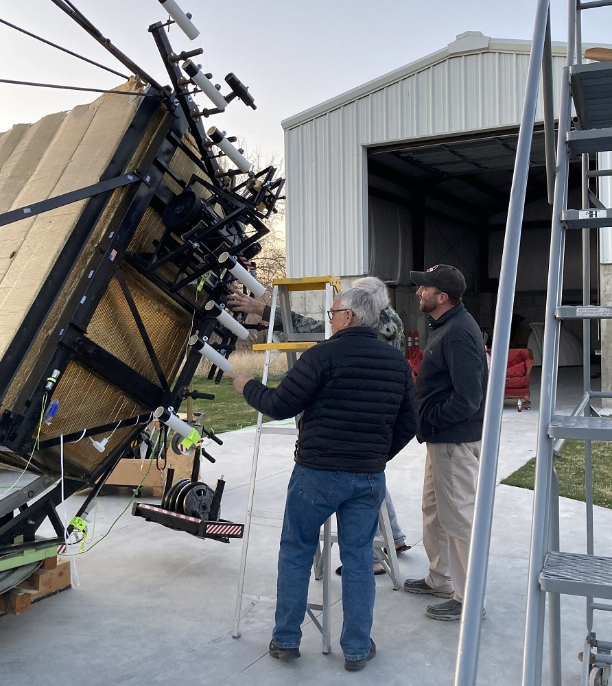 Rodger Fry and Mike Clements of Stansbury Park Observatory Complex