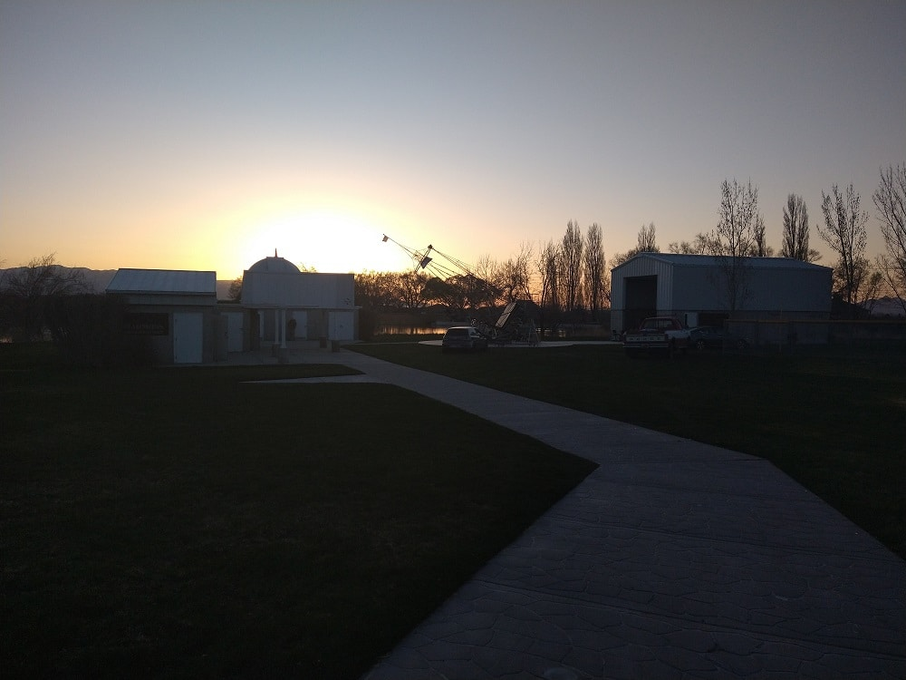 Sunset at Stansbury Park Observatory Complex